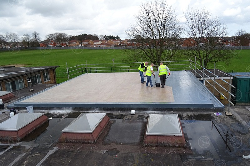 First for Flat Roof Installation